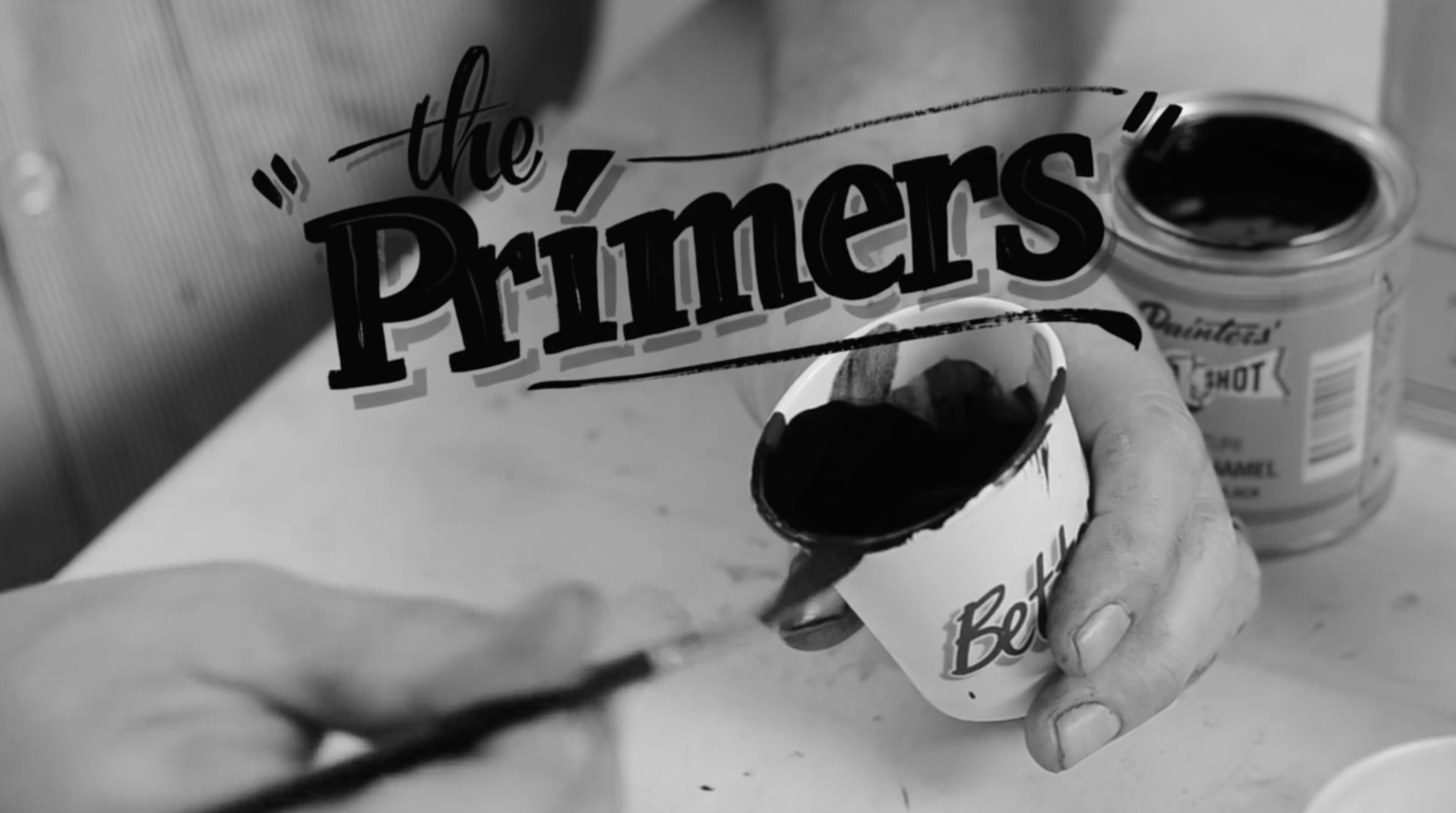 The Primers sign painting - Mike Meyer Better Letters A.S Handover - Lettering Tutorial