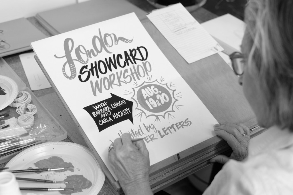 Barbara Enright Carla Hackett Brush Lettering Tour - Lettering Tutorial