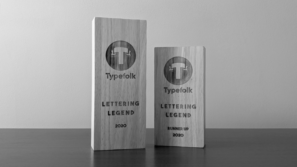 Typefolk Awards Trophies - Lettering Tutorial