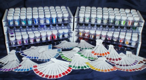 Ink Sample racks