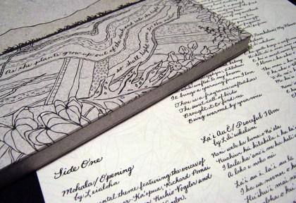 Allison Milham, Detail of Uluhaimalama: Legacies of Lili'uokalani