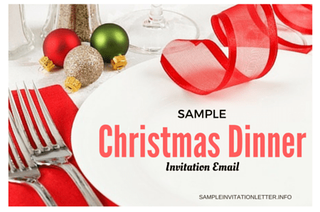 Christmas dinner Invitation Email