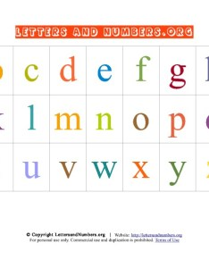 Preview this alphabet letter chart also printable   in lowercase letters and numbers org rh lettersandnumbers