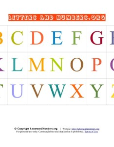 Preview this alphabet letter chart also printable   in uppercase letters and numbers org rh lettersandnumbers
