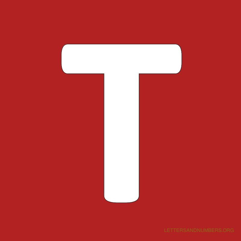 The Letter T In Red