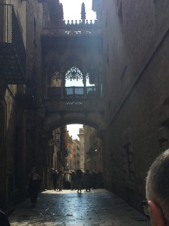 Alley in a gothic quarter