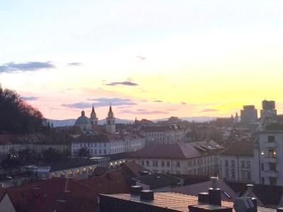 Ljubljana by sunset