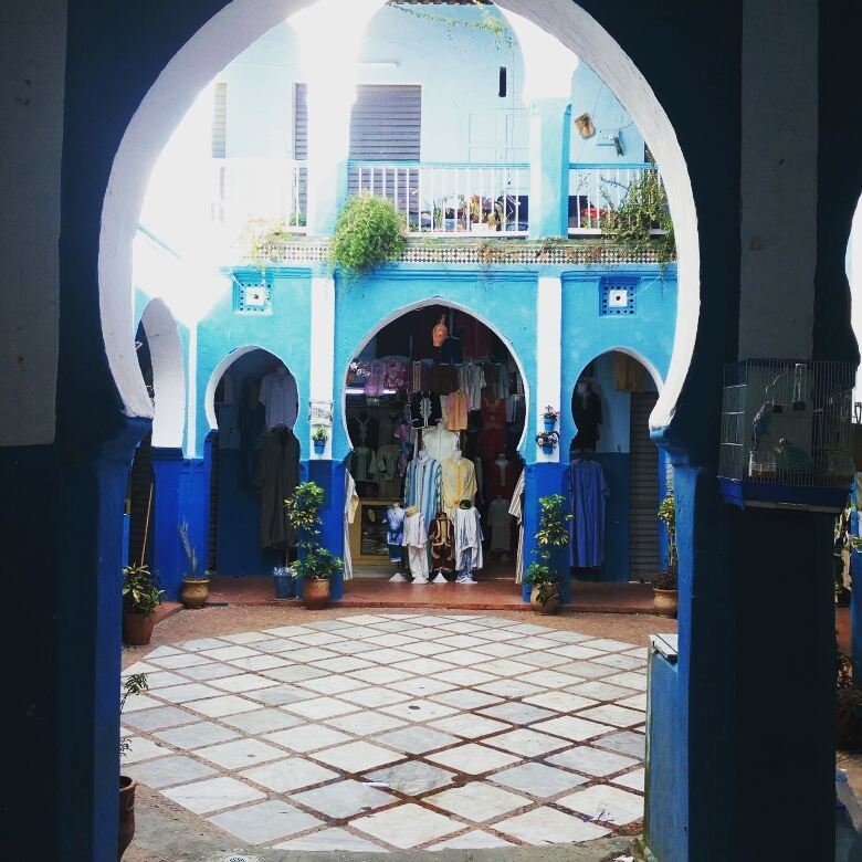 part of the medina in tangier morocco