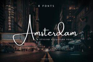 Amsterdam 8 Fonts