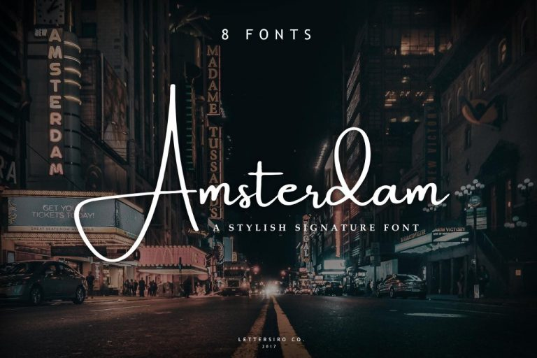 Preview image of Amsterdam 8 Fonts