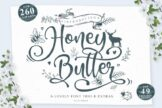 Last preview image of Honey Butter Font Trio