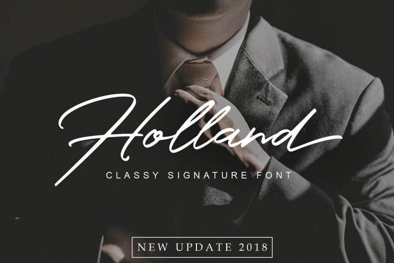 Preview image of Holland Elegant Font