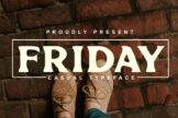 Last preview image of Friday Font