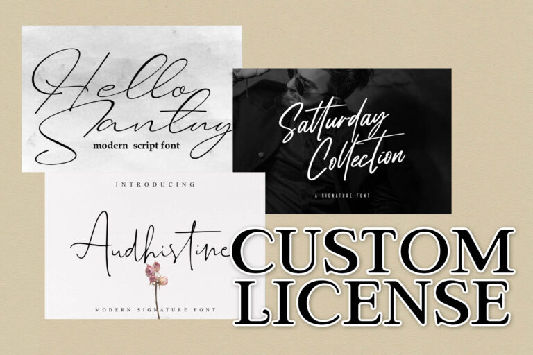 3 Fonts Custom License