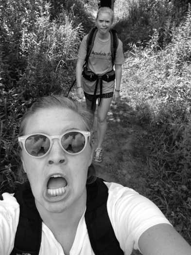 When hiking ugly selfies are necessary...and then you add a black and white filter to not look so ugly...