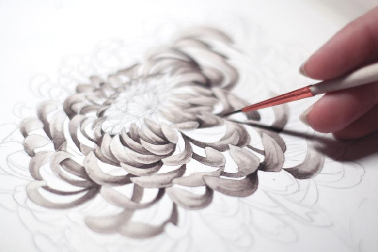 Les illustrations fleuries de Lena Limkina