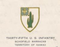 35th US Infantry, Schofield Barracks
