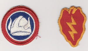 Lorne's insignia patches