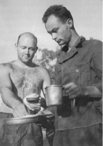 Soldiers Taking Quinine Tablets