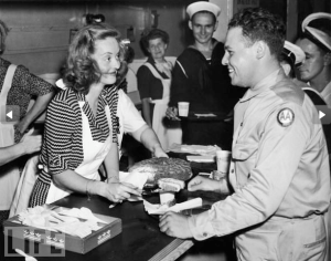 Bette Davis Serves Birthday Cake