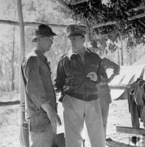 MacArthur Smoking Cigar