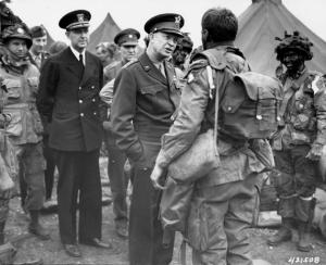 Eisenhower Visits Troops In England