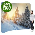 January Sale! £100 off a 'Curve 30' Fabric Display