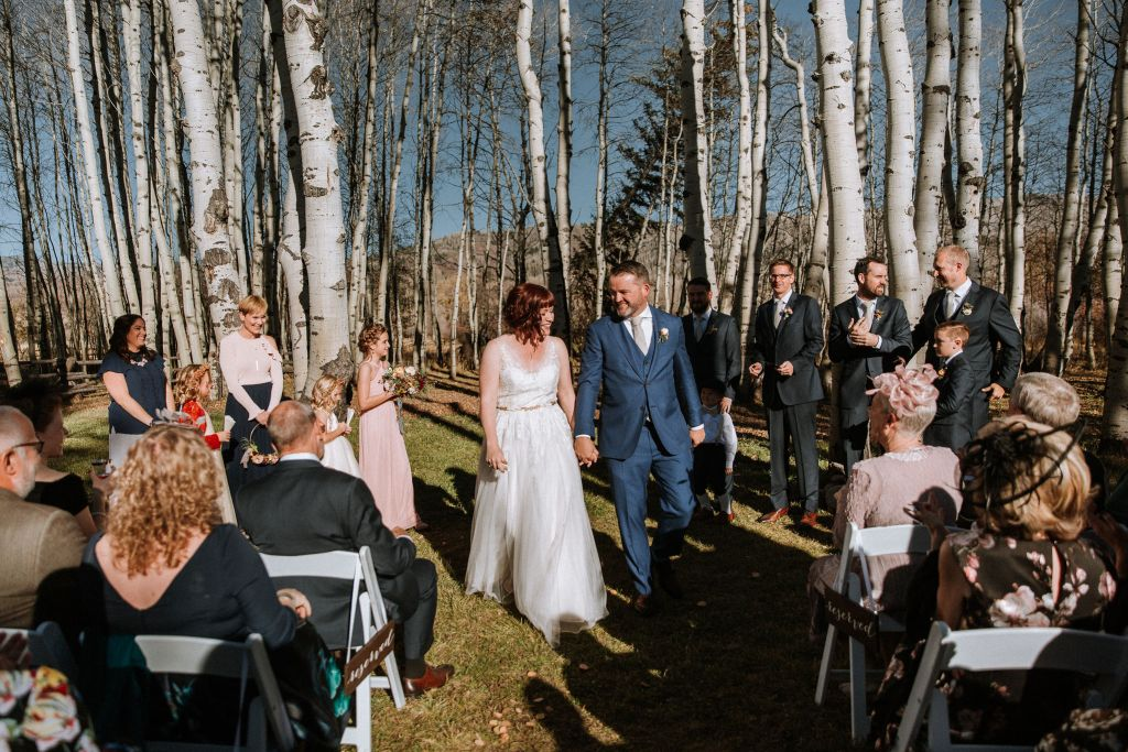 Marrying yourself in Colorado in aspen grove ceremony
