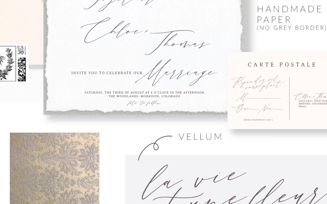 Custom Wedding Stationery 101: How do I know what my invitation suite will look like?