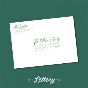 digital envelope addressing for holiday cards