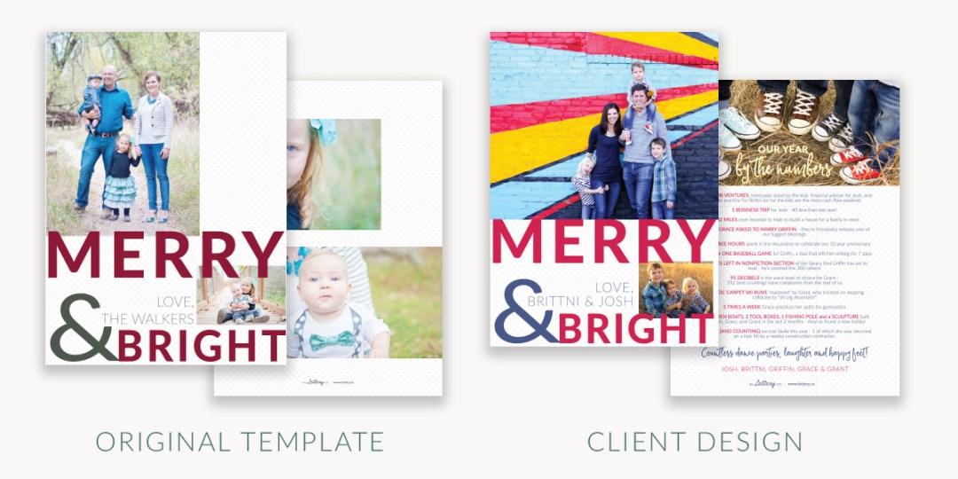 semi custom holiday photo card examples