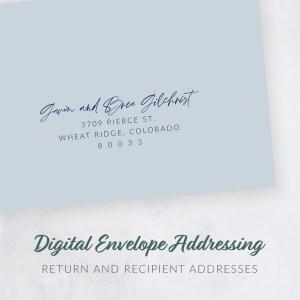 shop listing for digital envelope addressing for wedding invitations