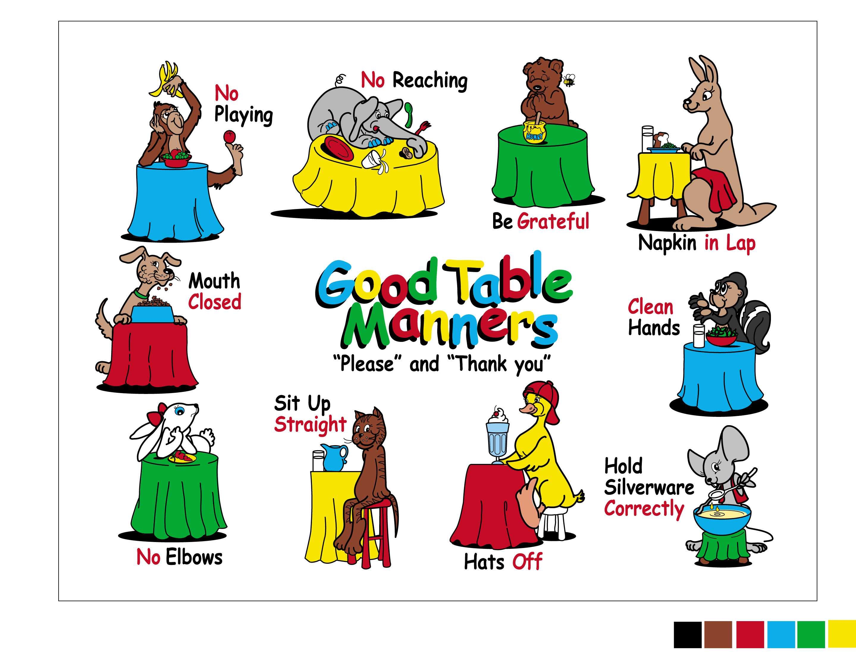 Manners For Children Table Manners Mat The Lett Group