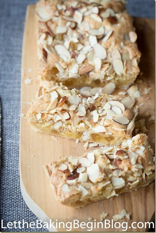 Almond and Pineapple Tart is made of flaky Puff Pastry shell, filled with almond cream and chunks of dried pineapples, then topped with crunchy Almond Slices. It is a lot of flavors that come together in one Magical Puff Pastry Dessert Tart!