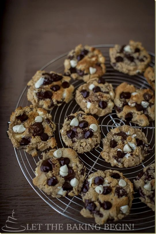 Chocolate Chip Cookies - Soft & Chewy Chocolate cookies that are a great dessert to dunk in a cup of cold milk.
