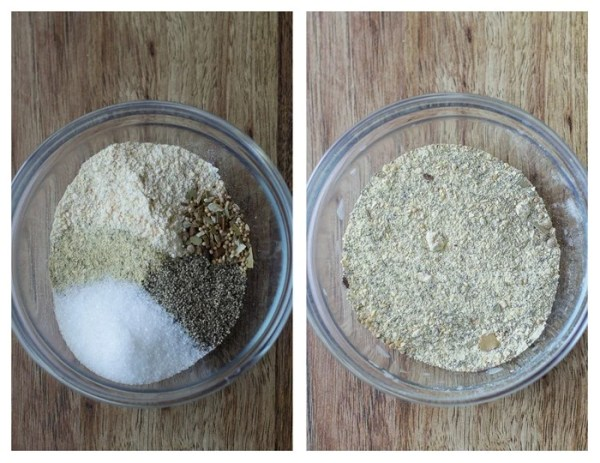 How to make dry rub by mixing ingredients in a bowl.