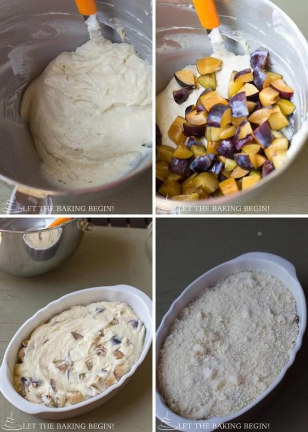 How to make this plum coffee cake recipe.