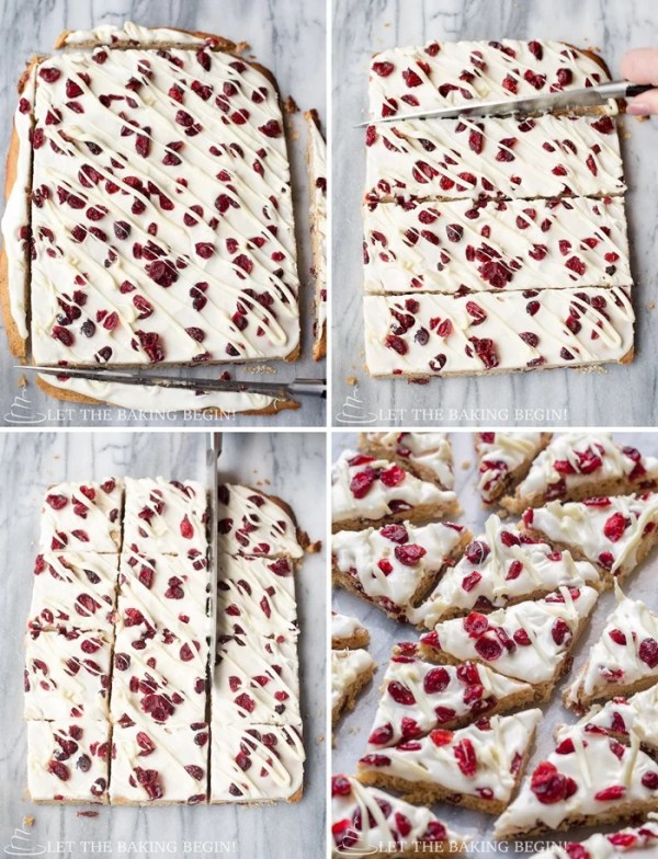 How to cut and shape these Cranberry Bliss Bars.