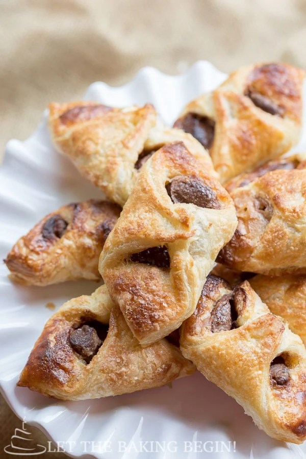 Nutella puff pastry dessert with a crunchy yet smooth chocolate taste in every bite.