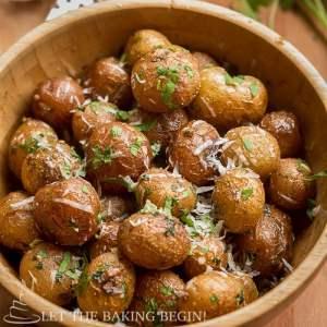 Pan Seared Parmesan Little Potatoes - LetTheBakingBeginBlog.com - @Letthebakingbgn