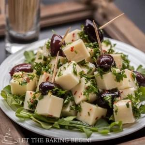 Marinated Cheese - by LetTheBakingBeginBlog.com @Letthebakingbg