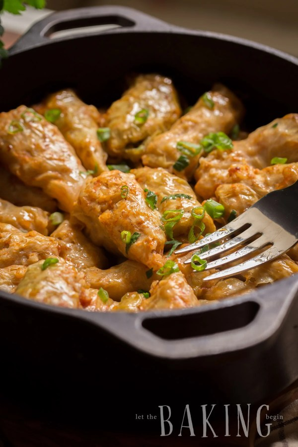 Cabbage Rolls are cooked low and slow, making them taste just like they would if they were baked in a brick oven.