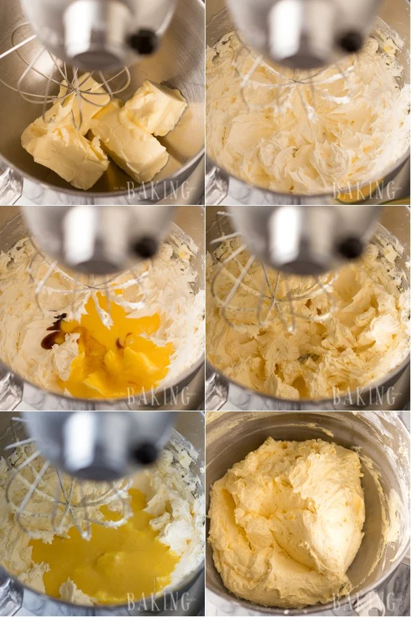 How to make the homemade custard buttercream with a blender.