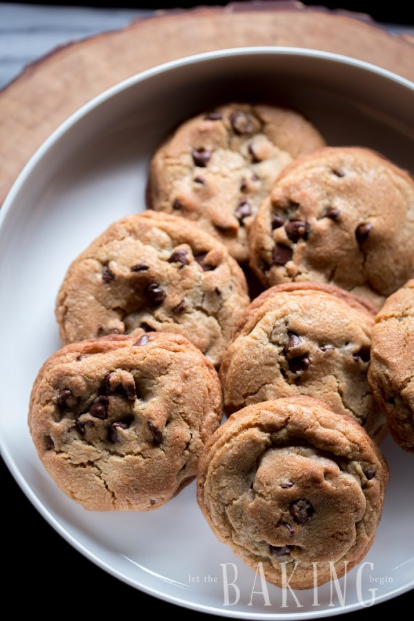 A plate full of the best chocolate chip cookies.