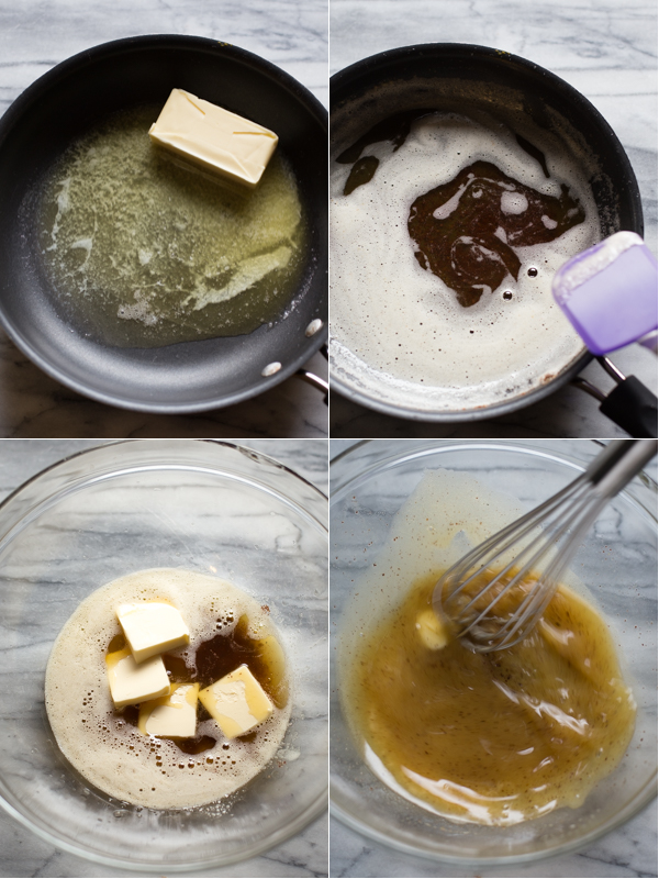 Making the chewy chocolate chip cookie batter step by step