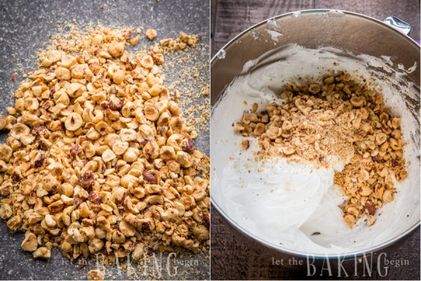 Hazelnut Meringue - Light, crispy and full of hazelnut flavor this meringue is perfect with a cup of tea or as part of a cake | Let the Baking Begin!