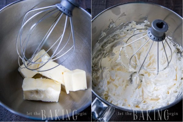 How to cream the butter in a Kitchen aid mixer.