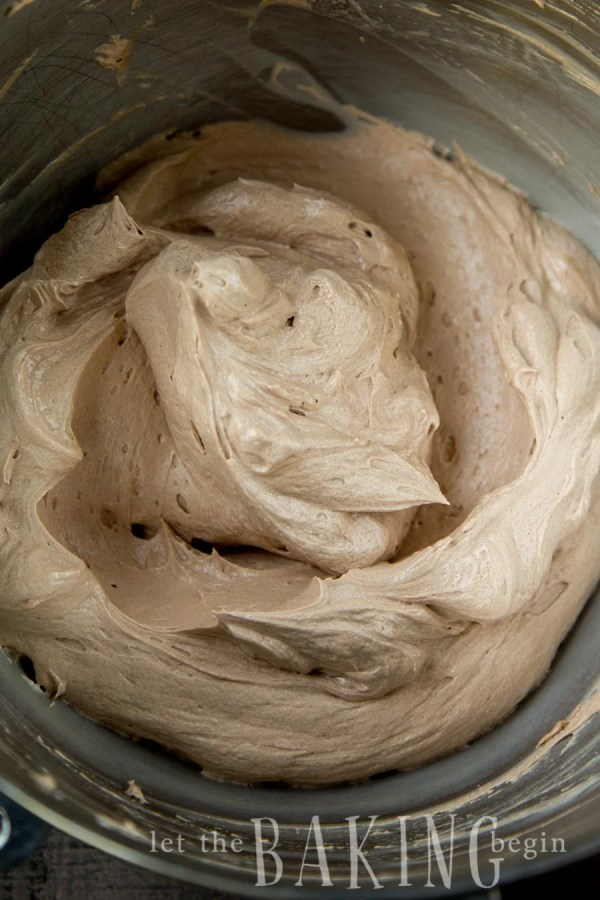 Buttercream in a mixing bowl.