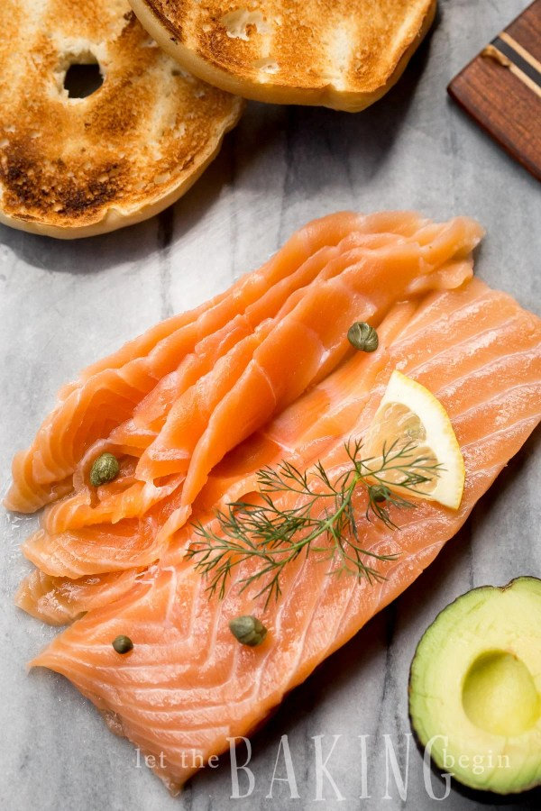 smoked salmon with fresh dill and capers
