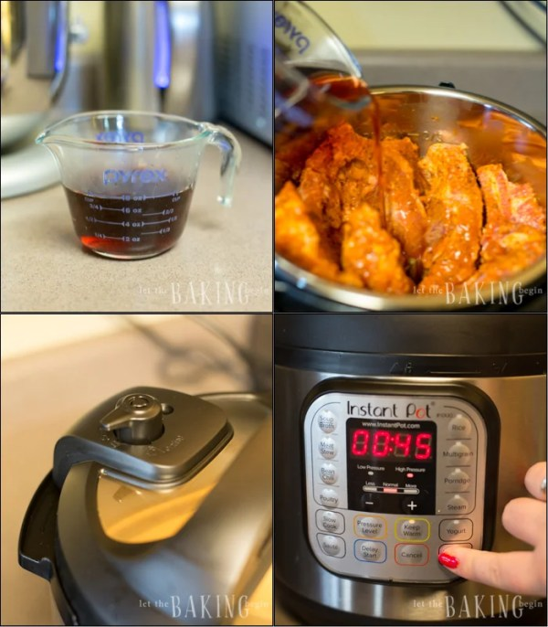 Visual step by step of how to make Instant Pot ribs